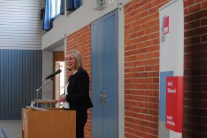 Doris Rauscher bei ihrer Rede