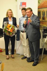 Doris Rauscher und Volkmar Halbleib zusammen Jürgen Kößler