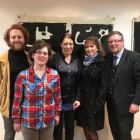 Aussellungseröffnung von Kathrin Feser im Gerda-Laufer-Forum, neben meinem Bürgerbüro