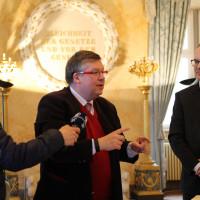 Auch die Medien, der Bayerische Rundfunk und TV Maninfranken, interessierten sich für unseren Termin in Gaibach.